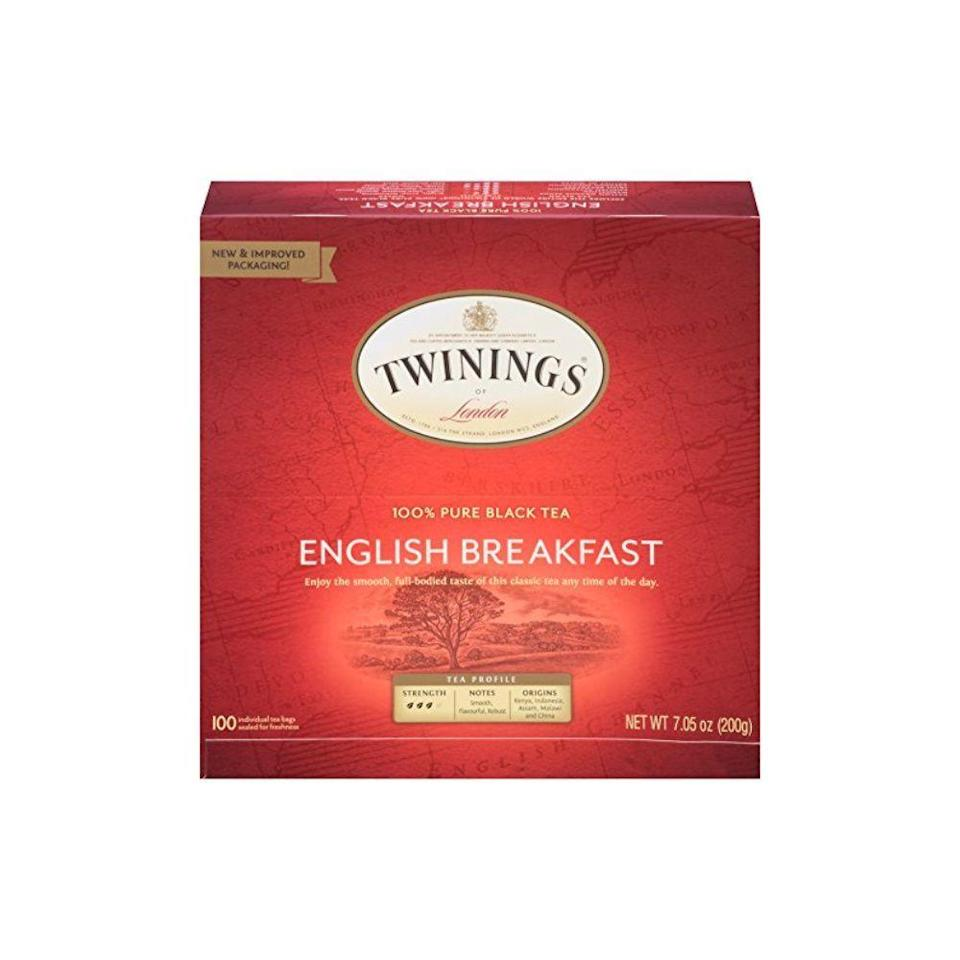 """<p><strong>Twinings</strong></p><p>amazon.com</p><p><strong>$9.26</strong></p><p><a href=""""https://www.amazon.com/dp/B001GM60LE?tag=syn-yahoo-20&ascsubtag=%5Bartid%7C10060.g.35049077%5Bsrc%7Cyahoo-us"""" rel=""""nofollow noopener"""" target=""""_blank"""" data-ylk=""""slk:Shop Now"""" class=""""link rapid-noclick-resp"""">Shop Now</a></p><p>Instead of throwing away your tea bag as soon as your tea is at the perfect strength, let it cool down. Apply it your eyelids as a mini spa treatment at the end of a long day. </p>"""
