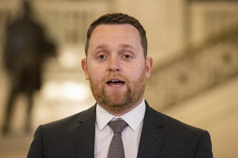 DUP junior minister Gary Middleton did not log on for the virtual north-south meeting on Friday morning (Liam McBurney/PA) (PA Wire)