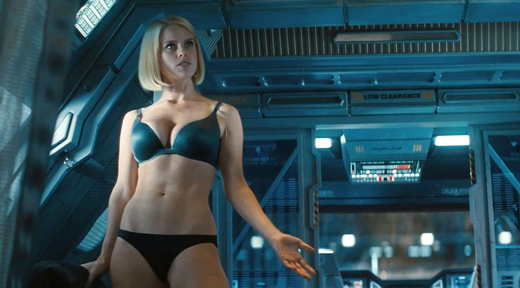 "<b>Miss: Carol Marcus (Alice Eve) in '<a href=""http://movies.yahoo.com/movie/star-trek-into-darkness/"">Star Trek Into Darkness</a></b>' <br /><br />An almost laughably ludicrous cheesecake shot from this year was in ""Star Trek Into Darkness,"" where Carol Marcus (Alive Eve), via a completely pointless and out-of-nowhere cutaway to her in her underwear, shows that having a doctorate ain't nothin' unless you've got the supermodel figure to go with it. Eve is gorgeous but the shot was so gratuitous and unnecessary as to be genuinely uncomfortable, a J.J. Abrams indulgence that took you right out of the story. Co-screenwriter Damon Lindelof at least <a href=""http://movies.yahoo.com/blogs/movie-talk/damon-lindelof-admits-gratuitous-star-trek-strip-scene-171222662.html"" target=""new"">owned up to it</a> via Twitter on May 20, three days after the film's release: ""I copped to the fact that we should have done a better job of not being gratuitous in our representation of a barely clothed actress."" Yeah, man."