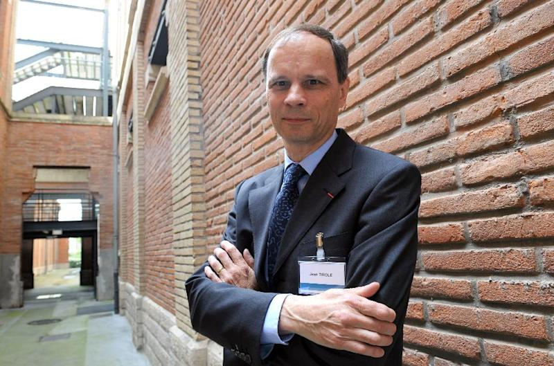 """French economist Jean Tirole, seen here in June 2008, was awarded the Nobel Economics Prize """"for his analysis of market power and regulation"""", according to the Royal Academy of Sciences (AFP Photo/Eric Cabanis)"""