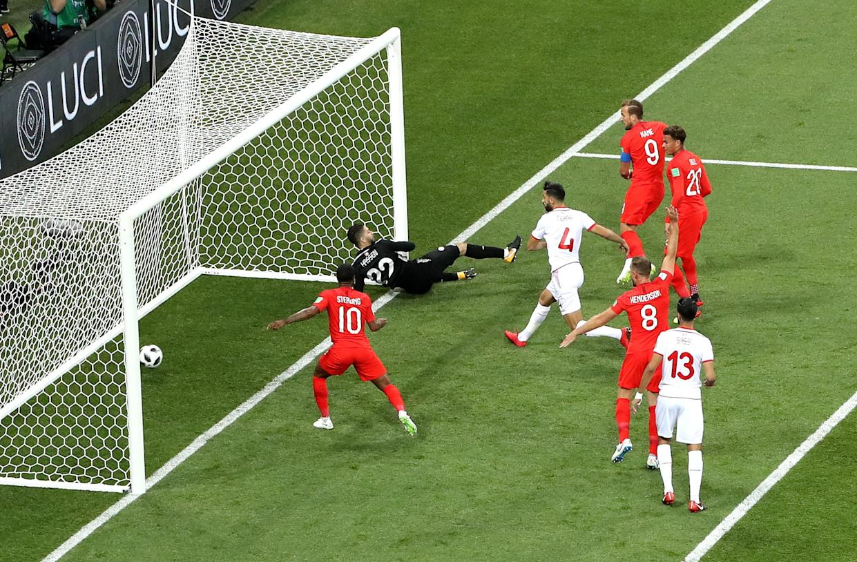 Kane gave England an 11th minute range after Stones' header was saved