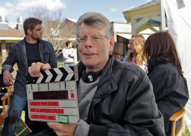 """Pilot"" (behind the scenes) - Stephen King on the set of CBS's new summer series, ""Under the Dome,"" based on King's bestselling novel about a small town that is suddenly and inexplicably sealed off from the rest of the world by a massive transparent dome."