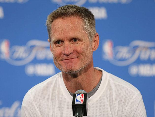 Steve Kerr meets the media. (Getty Images)