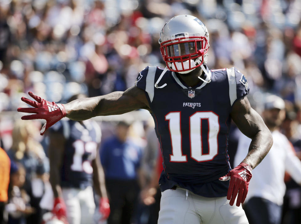 New England Patriots wide receiver Josh Gordon said he's taking a break from football, but a report said he's facing a suspension. (AP)
