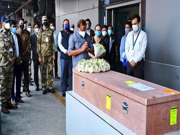 Mortal remains of a Kerala woman Soumya Santhosh, who was killed in rocket attack in the Israeli city of Ashkelon arrived in New Delhi on Saturday.