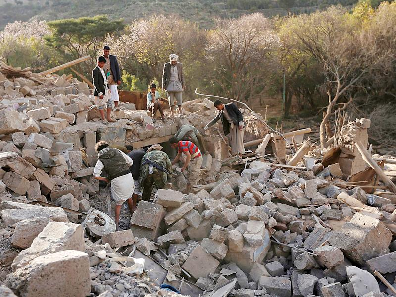 Saudi-led coalition air strikes in Yemen in the last two years have frequently targeted civilian infrastructure: Getty