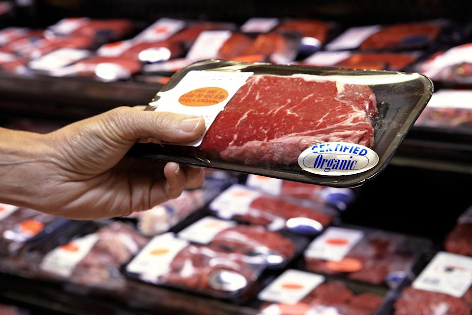 """<p>The flimsy paper and plastic wrapping around pre-packaged, fresh meat may allow for juices from the meat to leak through. If these drippings contaminate other food in your refrigerator, you could be in danger of food poisoning. One of <a href=""""https://www.theactivetimes.com/healthy-living/habits-healthy-people?referrer=yahoo&category=beauty_food&include_utm=1&utm_medium=referral&utm_source=yahoo&utm_campaign=feed"""" rel=""""nofollow noopener"""" target=""""_blank"""" data-ylk=""""slk:the best ways to protect against getting sick"""" class=""""link rapid-noclick-resp"""">the best ways to protect against getting sick</a> is to store your meat on the bottom shelf of the fridge. That way, if any juices do fall through, they won't land on other food products.</p>"""