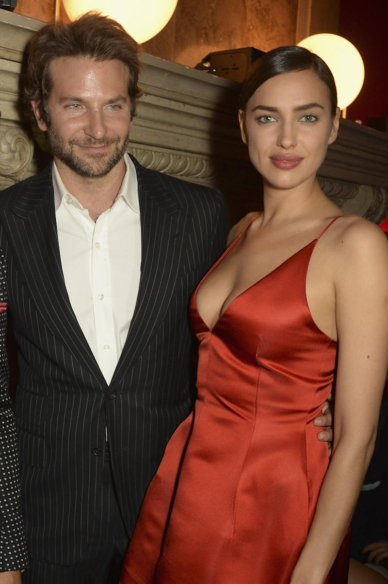 For a rare public appearance with boyfriend Bradley Cooper, Shayk opted for a red mini-dress by Dior.
