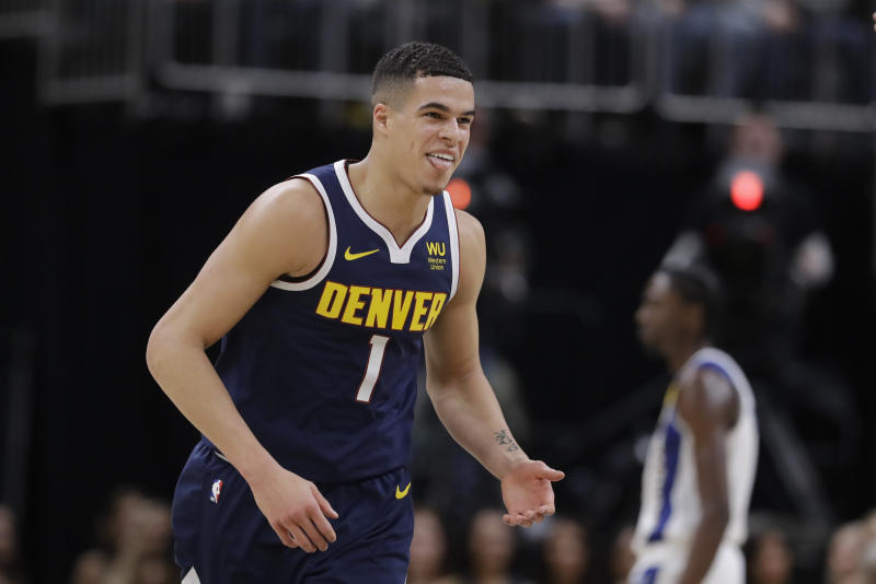 Are we seeing the emergence of Michael Porter Jr.? The Nuggets definitely hope so. (AP Photo/Darron Cummings)