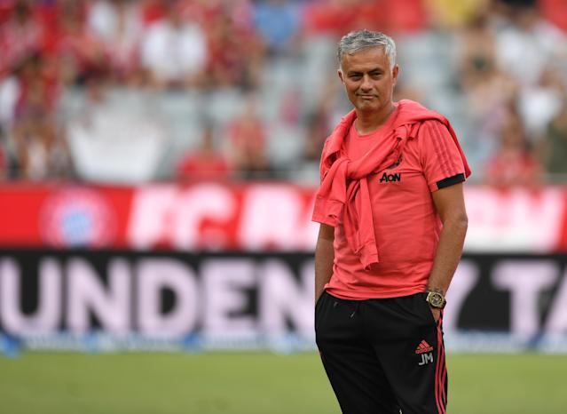 Jose Mourinho has had a rough, complaint-filled summer at Manchester United ahead of the 2018-19 Premier League season. (Getty)
