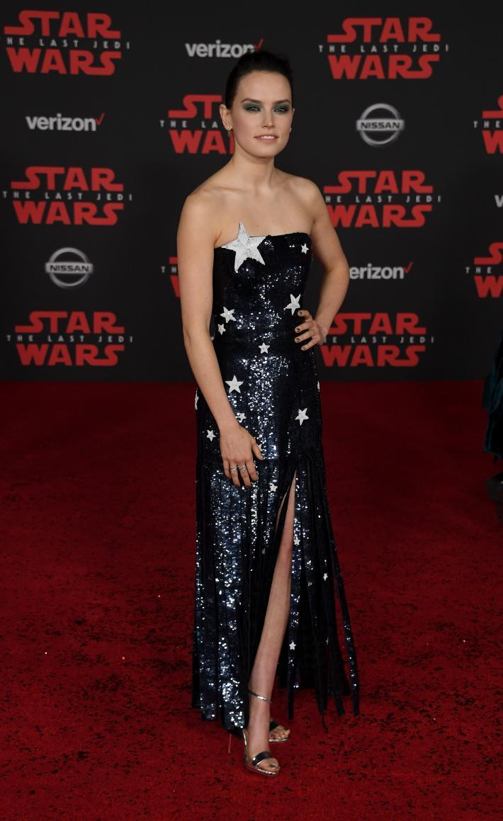 Daisy Ridley at the Star Wars: The Last Jedi premiere