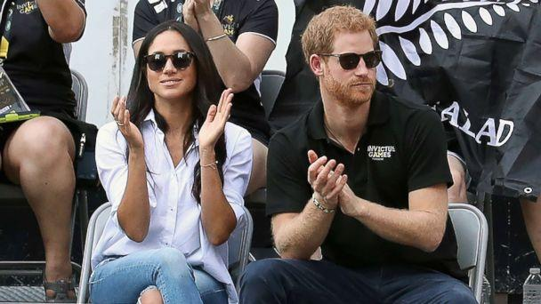 PHOTO: Prince Harry and Meghan Markle attend a Wheelchair Tennis match during the Invictus Games on Sept. 25, 2017, in Toronto. (Chris Jackson/Getty Images )