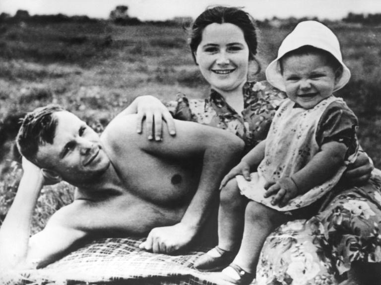 Russians also remember Gagarin as a loving family man