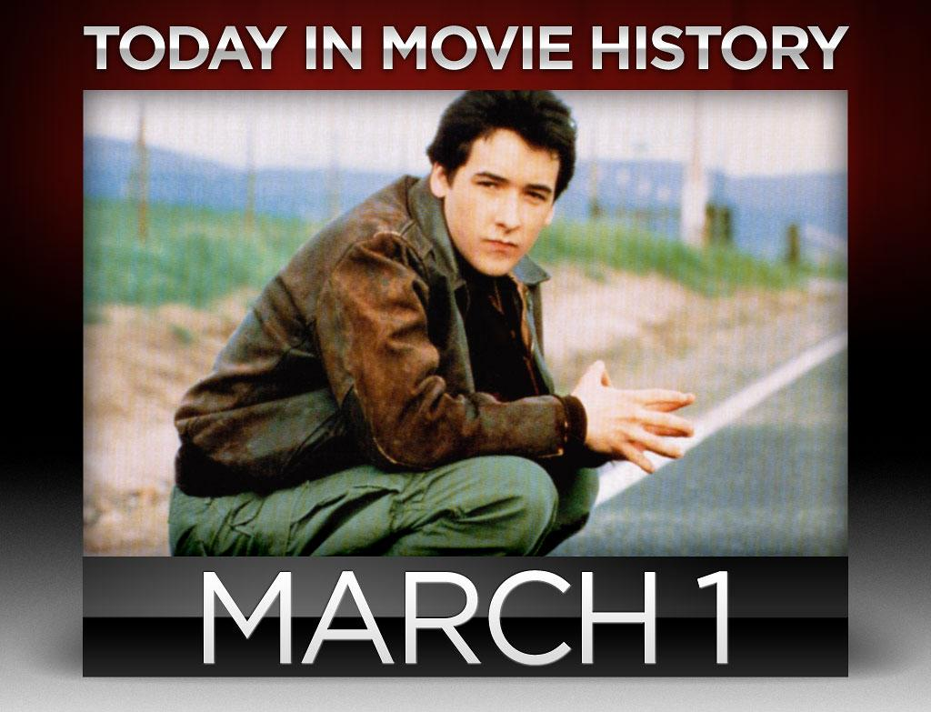 "<strong>1985</strong> – John Cusack first made his mark as a go-to rom-com main-man when ""<a href=""http://movies.yahoo.com/movie/the-sure-thing/"">The Sure Thing</a>"" opened wide on this day. In director Rob Reiner's follow-up to ""This is Spinal Tap"" (1984), Cusack takes on his first lead role as Gib, a horny college student who goes on a road trip cross-country to see future ""Desperate Housewife"" Nicolette Sheridan, a girl he's told is a sure thing. Alas, Gib's plans are all but sure because of fellow traveler Alison, played by future <a href=""http://www.youtube.com/watch?v=RqKk-4a44U0"">Druish Princess</a> and ""Melrose Place"" star Daphne Zuniga.    <br /><br />"