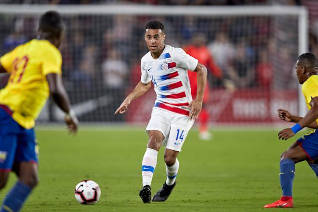 Tyler Adams, who has played once for the USMNT under Gregg Berhalter, was ruled out of the Gold Cup due to injury. (Getty)