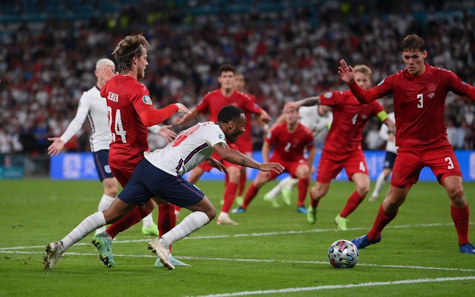Premier League referees told not to give 'soft penalties' - like Raheem Sterling's against Denmark - Getty Images