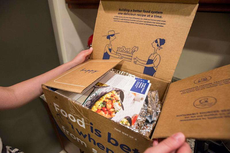 Blue Apron Rises After Revenue Beats Forecasts