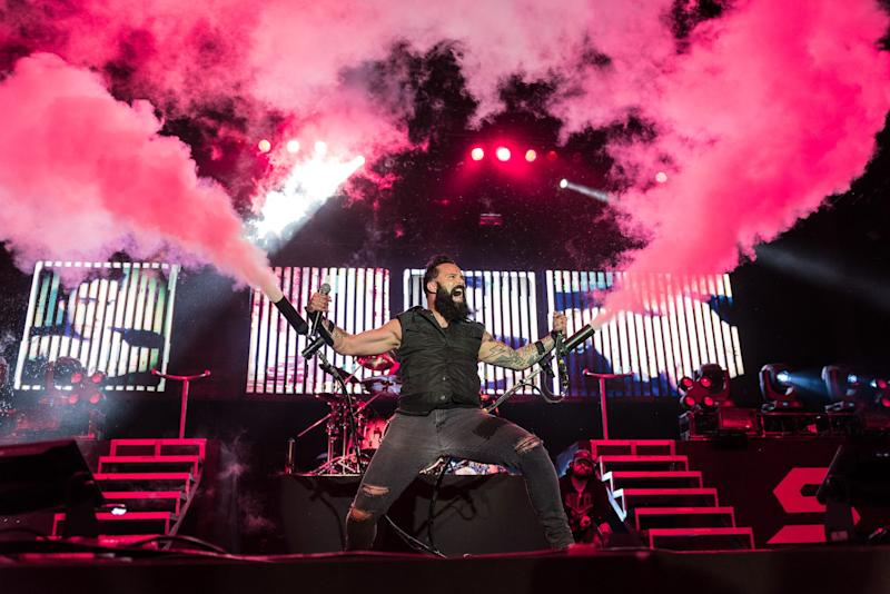 Skillet, featuring three members from Kenosha, performs at the Briggs & Stratton Big Backyard on July 6, 2019.