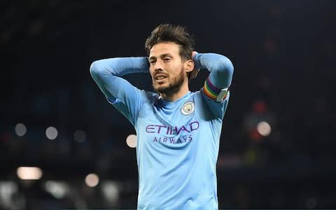 <span>This pic of David Silva sums up his and City's match so far. They have 30 minutes to get back into the match and keep their title chase alive</span> <span>Credit: Getty Images </span>