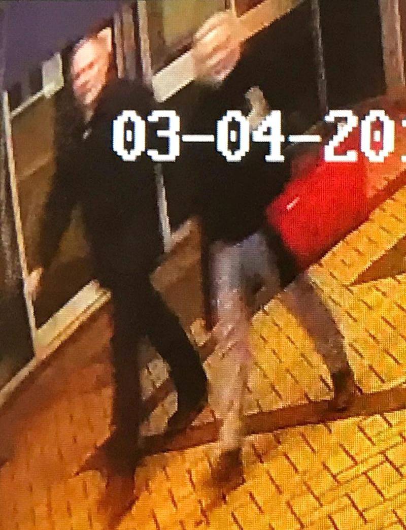 CCTV: The footage showed a man and woman near to where the ex-spy was found collapsed (Snap Fitness 24/7 )