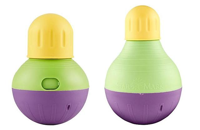 Starmark Treat-Dispensing Bob-a-Lot Toy—small (left) and large (right) (Photo: Starmark)