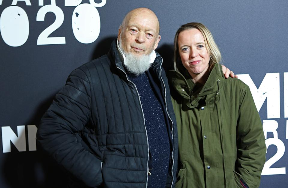 LONDON, ENGLAND - FEBRUARY 12:   Michael Eavis and Emily Eavis attend The NME Awards 2020 at the O2 Academy Brixton on February 12, 2020 in London, England.  (Photo by David M. Benett/Dave Benett/Getty Images)