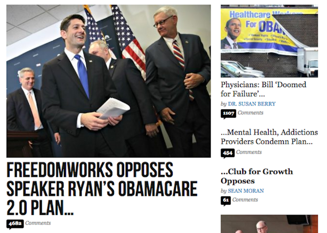 """Report: The Dorks at Breitbart Are Ready to Go to """"War"""" With the GOP Over Its Healthcare Plan"""