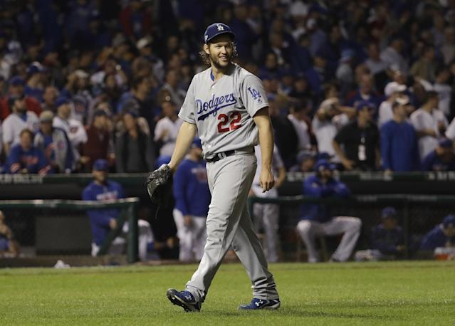 NLCS Game 2: Clayton Kershaw throws a gem as Dodgers even series with Cubs