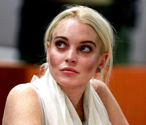 Yikes! Lindsay Lohan Sports Bizarre Makeup in Court