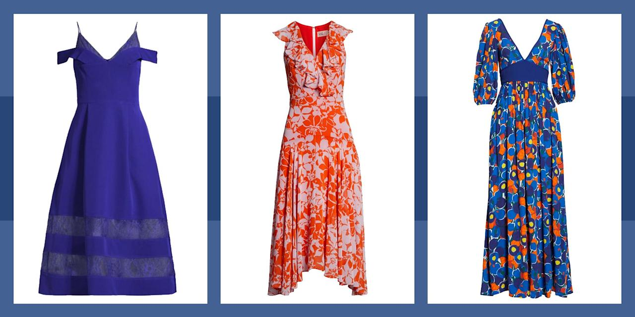 <p>Fall wedding season can be tricky—you want to look celebratory, but still keep things seasonal. Luckily there are plenty of solutions to keep you looking stylish at all the nuptials this year: from inky fall florals, to punchy autumnal colors, to rich, cool-weather fabrics, these dresses will help you navigate even the trickiest autumn dress code with you fashion cred intact. </p>
