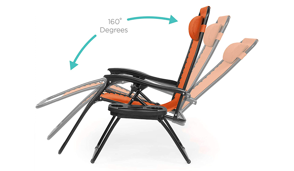 Simple and compact, these lounge chairs are perfect for the beach, backyard, and anywhere else your outdoor adventures may take you! (Photo: Amazon)
