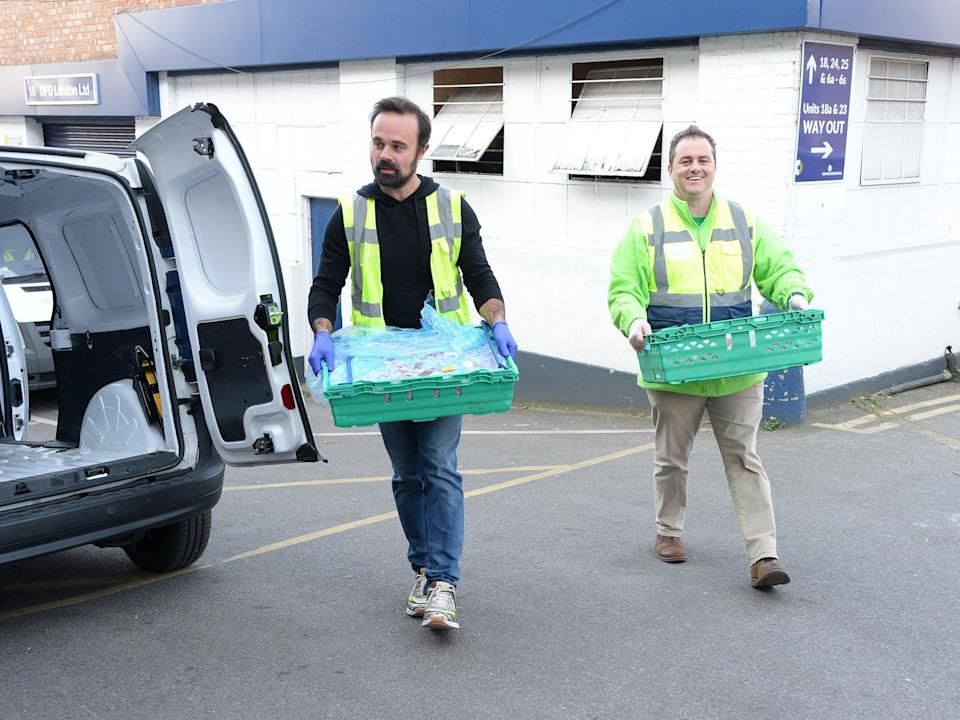 <p>Evgeny Lebedev, pictured delivering food for The Independent's Help The Hungry campaign, was nominated for a peerage by the prime minister in the summer</p> (Hannah Harley Young)