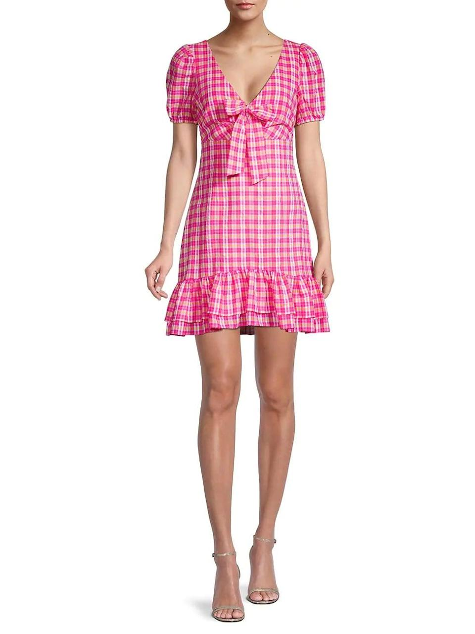 <p>This <span>Likely Kai Plaid Mini Dress</span> ($198) is begging to be worn on your next picnic.</p>