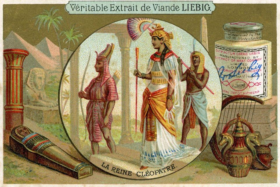 <p>In ancient Egypt, women wore sheer or linen materials. The last pharaoh, Cleopatra, was known to wear fabric that was adorned with gold or semiprecious stones, since, you know, she was a queen. </p>