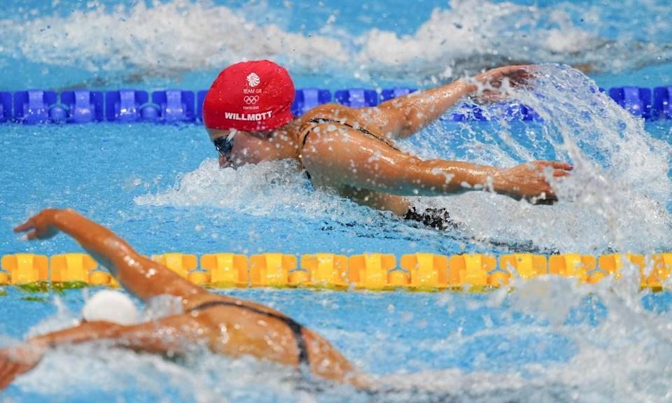 Aimee Willmott came second in her women's 400m individual medley heat.