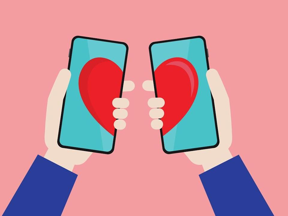 Dating app illustration (Getty Images)
