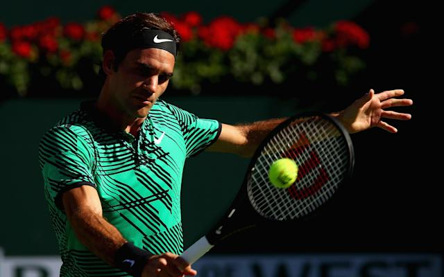 <span>Federer's new and improved backhand has been a major development this season</span> <span>Credit: Getty Images </span>
