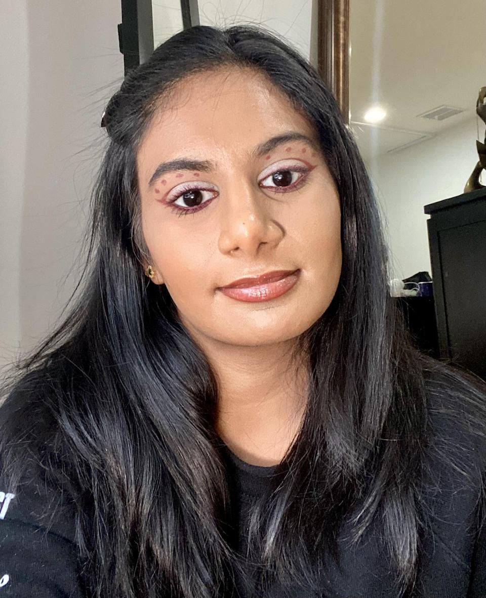 <p>According to Priyanka Ganjoo, the <span>Underlined Kajal Eyeliner in Purply Pataka</span> ($20) took the longest time to develop to achieve that true, neutral mauve. Named after the Hindi word for fireworks, this shimmery, purply mauve shade works with both warm- and cool-toned looks. You can really unleash your creativity with this shade - swipe it all over your lid, color block, or add a pop of color.</p>