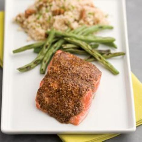 4-Ingredient Maple Mustard Salmon in 15 Minutes