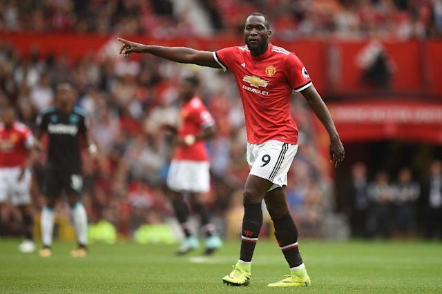 Manchester United's Belgian striker Romelu Lukaku had a triumphant home debut when he scored two goals during the Man United Premier League opening match against West Ham (AFP Photo/Oli SCARFF )