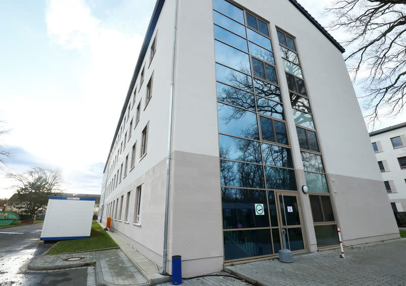 Quarantine rooms are located in a building at the Suedpfalz Kaserne in Germersheim
