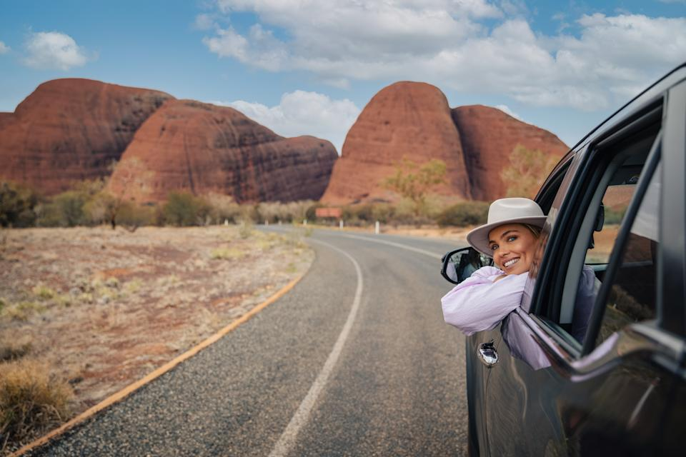 Australia's Red Centre is home to natural wonder and cultural landmark, Kata Tjuta (The Olgas). Hike around the soaring rock domes, which glow at sunrise and sunset. Located approximately 40km west of Uluru, the ochre-coloured shapes are an intriguing and mesmerising sight.