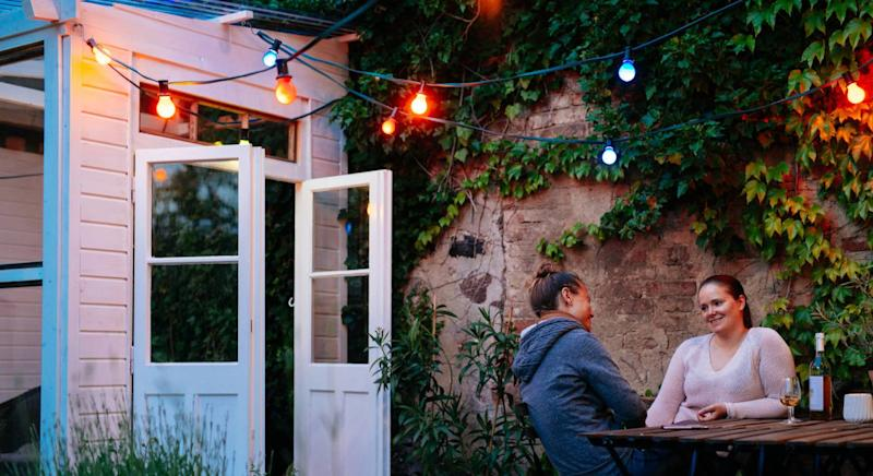 The best outdoor lighting to make your garden glow. (Getty Images)