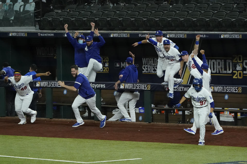 Dodgers jump over the fences.