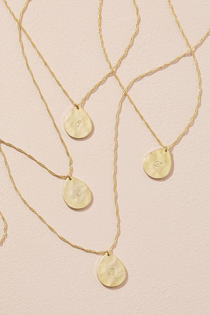 Monogram Pendant Necklace (Anthropologie)