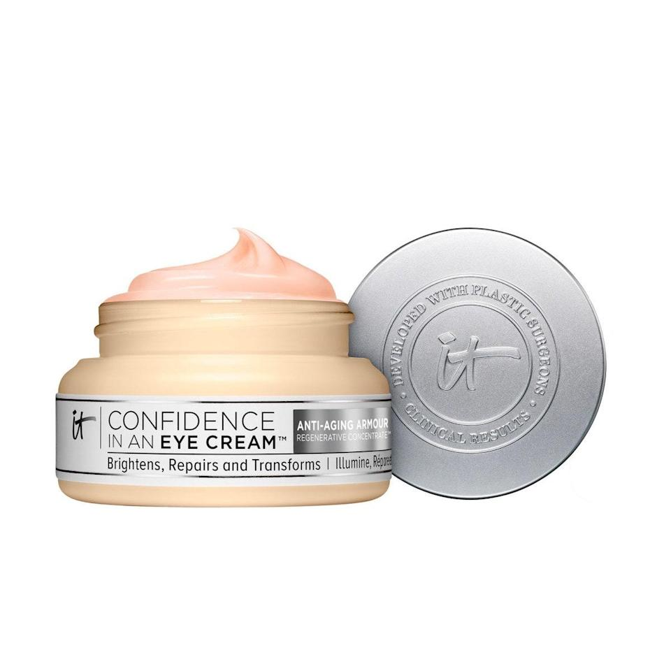 """If you think <a href=""""https://www.glamour.com/gallery/best-eye-creams?mbid=synd_yahoo_rss"""" rel=""""nofollow noopener"""" target=""""_blank"""" data-ylk=""""slk:eye cream"""" class=""""link rapid-noclick-resp"""">eye cream</a> is a scam, you haven't tried this one yet. Just take a look at what our contributor, Azadeh, has to say about it. """"I have pretty bad dark circles (genetics, unfortunately) and have tried everything from very expensive products to drugstore brands. It wasn't until this one that I noticed a difference—literally, after a day of using it. It's super lightweight and makes it look as though I hit snooze just a little longer each morning."""" $39, Ulta. <a href=""""https://shop-links.co/1716511607897953174"""" rel=""""nofollow noopener"""" target=""""_blank"""" data-ylk=""""slk:Get it now!"""" class=""""link rapid-noclick-resp"""">Get it now!</a>"""