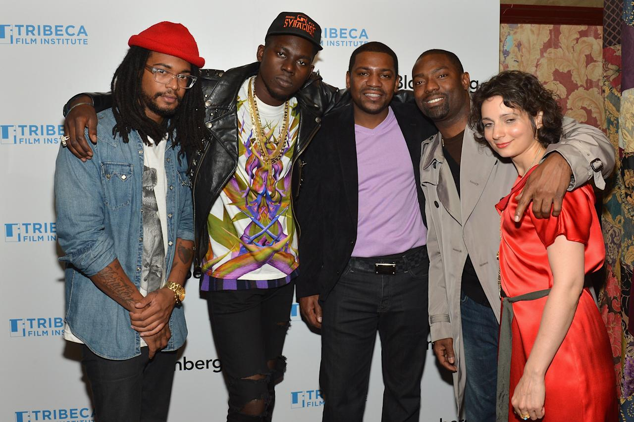 NEW YORK, NY - APRIL 26:  Jahphet Landis, Theophilus London, Mekhi Phifer, Hassad Johnson and Natalie Mooallem attend the TAA Awards & Celebration during the 2012 Tribeca Film Festival at the The Box on April 26, 2012 in New York City.  (Photo by Slaven Vlasic/Getty Images)