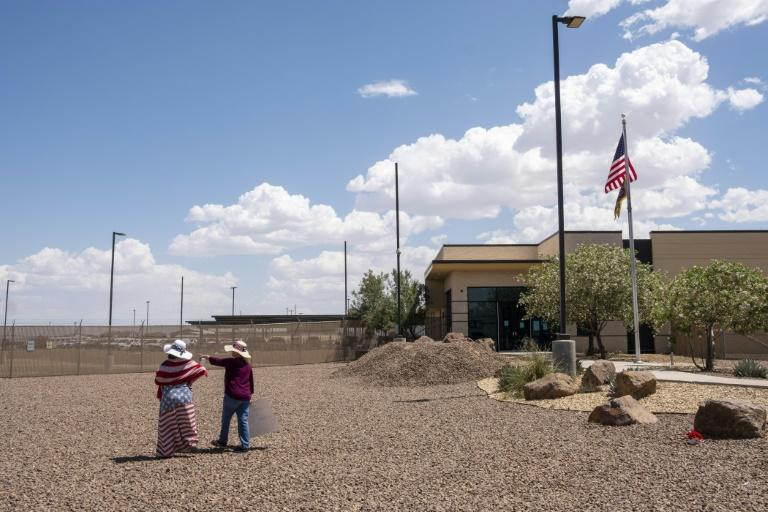 The Border Patrol station in Clint, Texas has been the subject of media reports, a Department of Homeland Security inspection and criticism from Democratic lawmakers (AFP Photo/Luke MONTAVON)