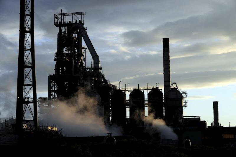 The steelworks in Port Talbot, South Wales as the sun goes down - Credit: REBECCA NADEN/Reuters