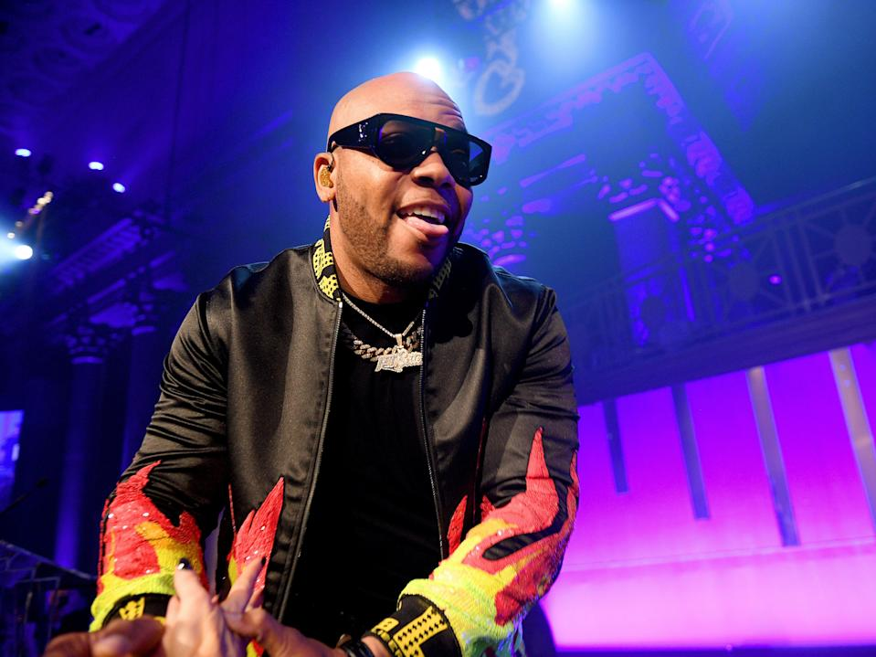 Flo Rida on stage in 2019 (Getty Images for Gabrielle's Ang)